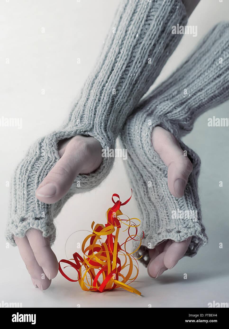 Dezember-Feuer Stockbild