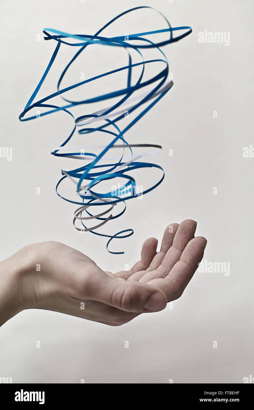 Papier Elemente: Luft Stockbild
