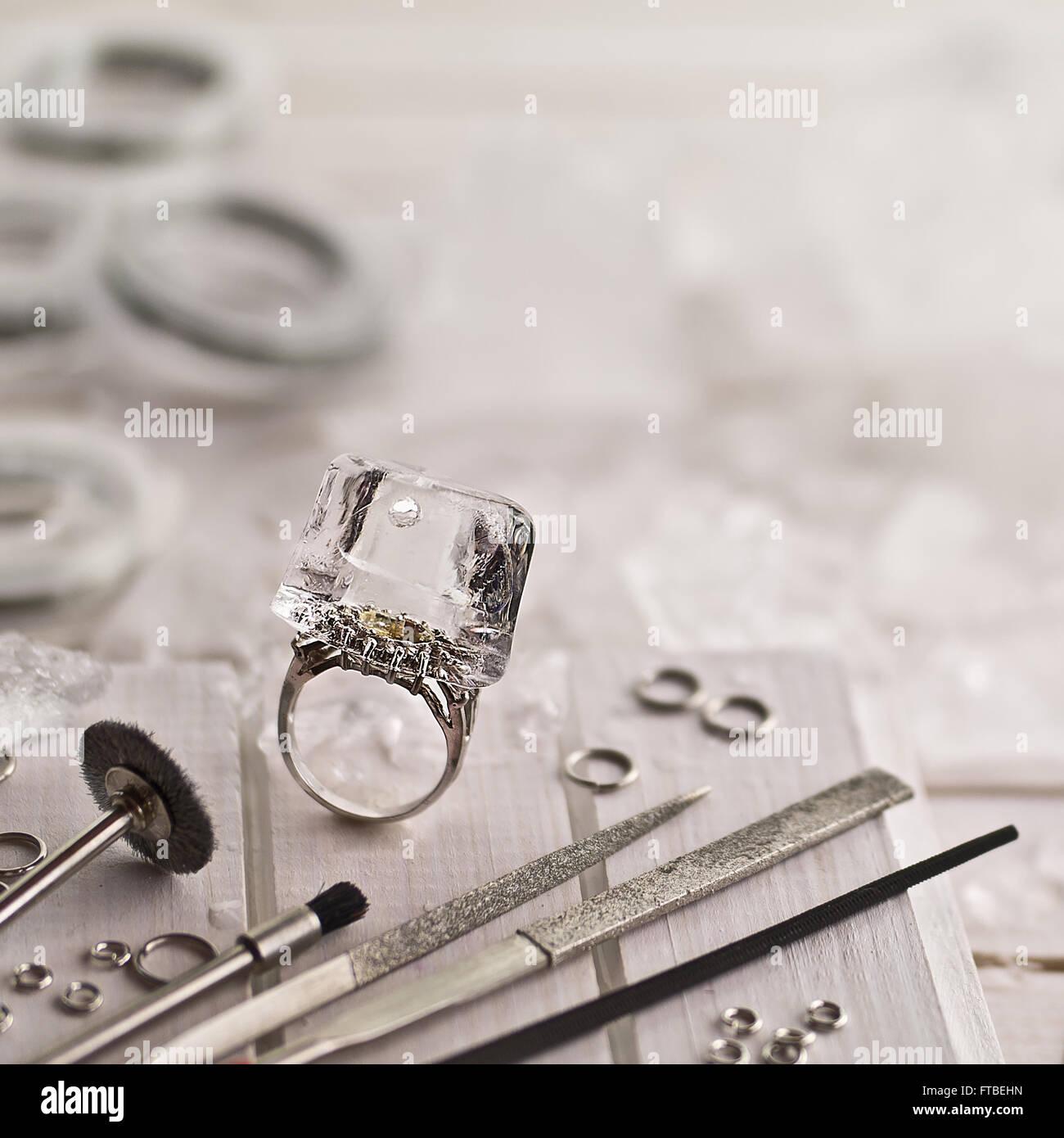 CE-Juwelier Stockfoto