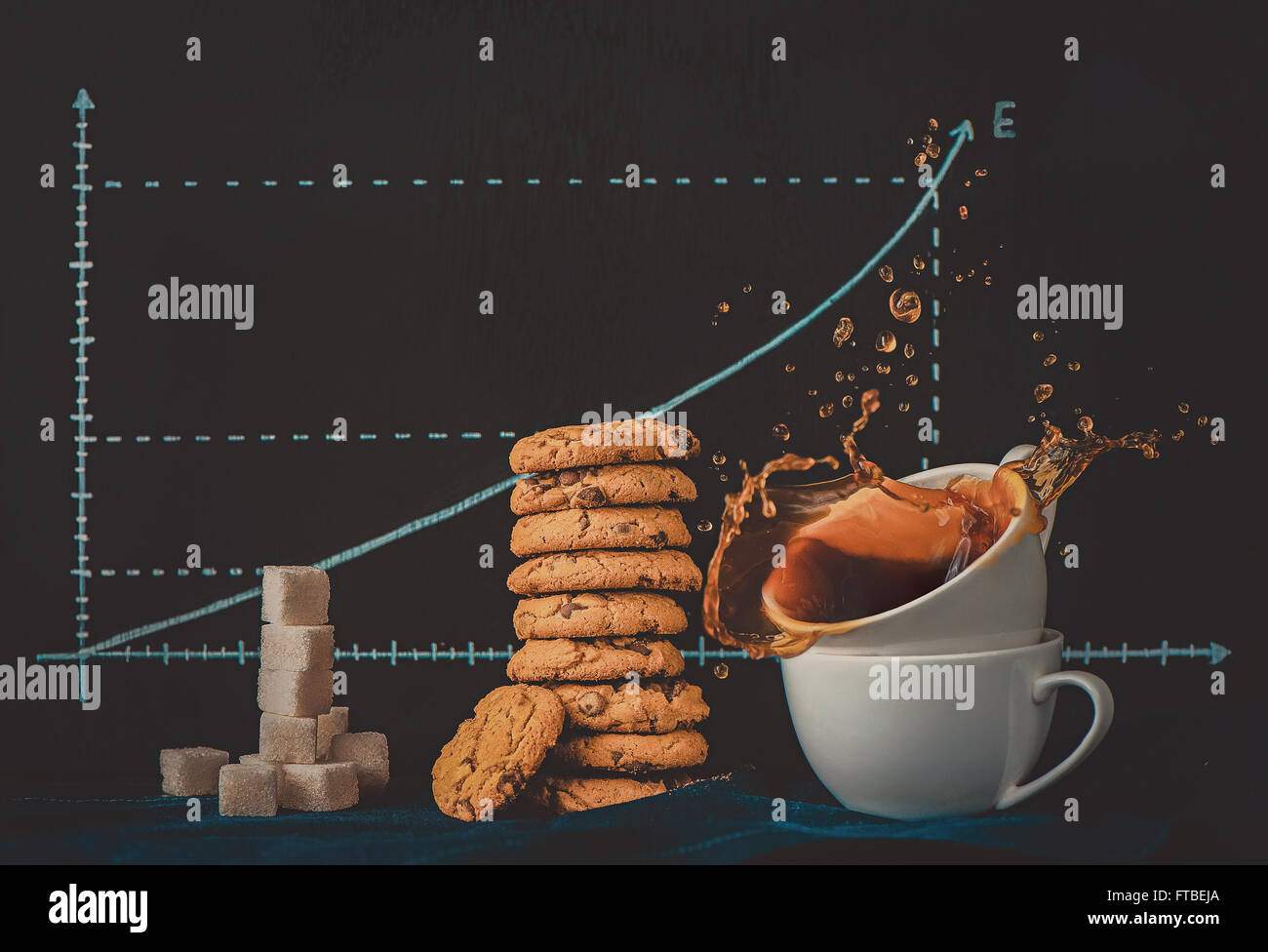 Energie-Kurve Stockbild