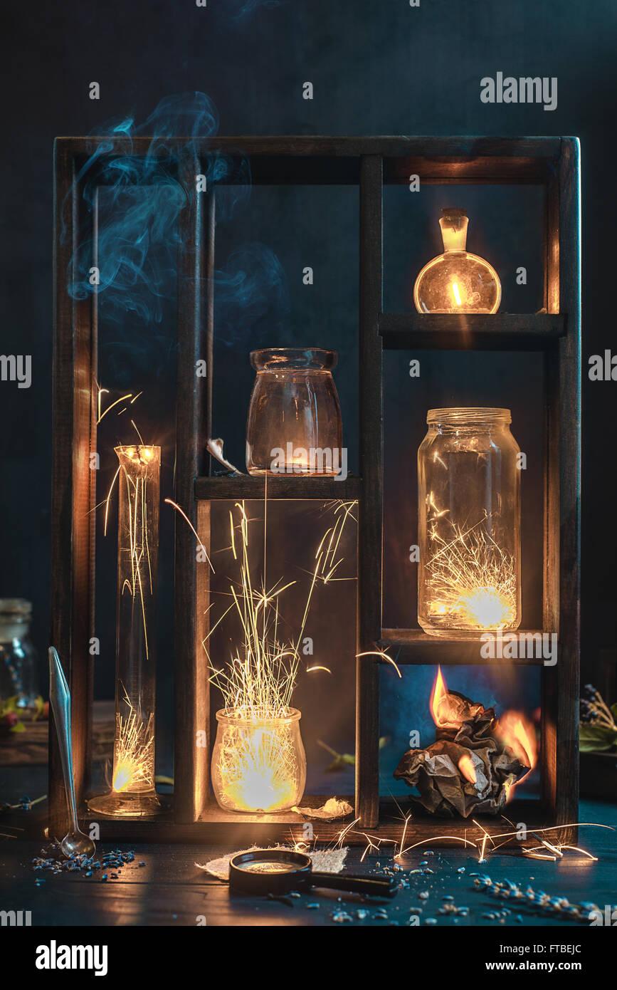 Feuer Sammlung Stockbild