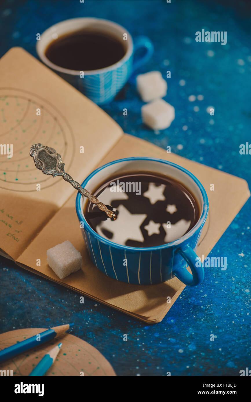 Tasse voller Sterne Stockbild