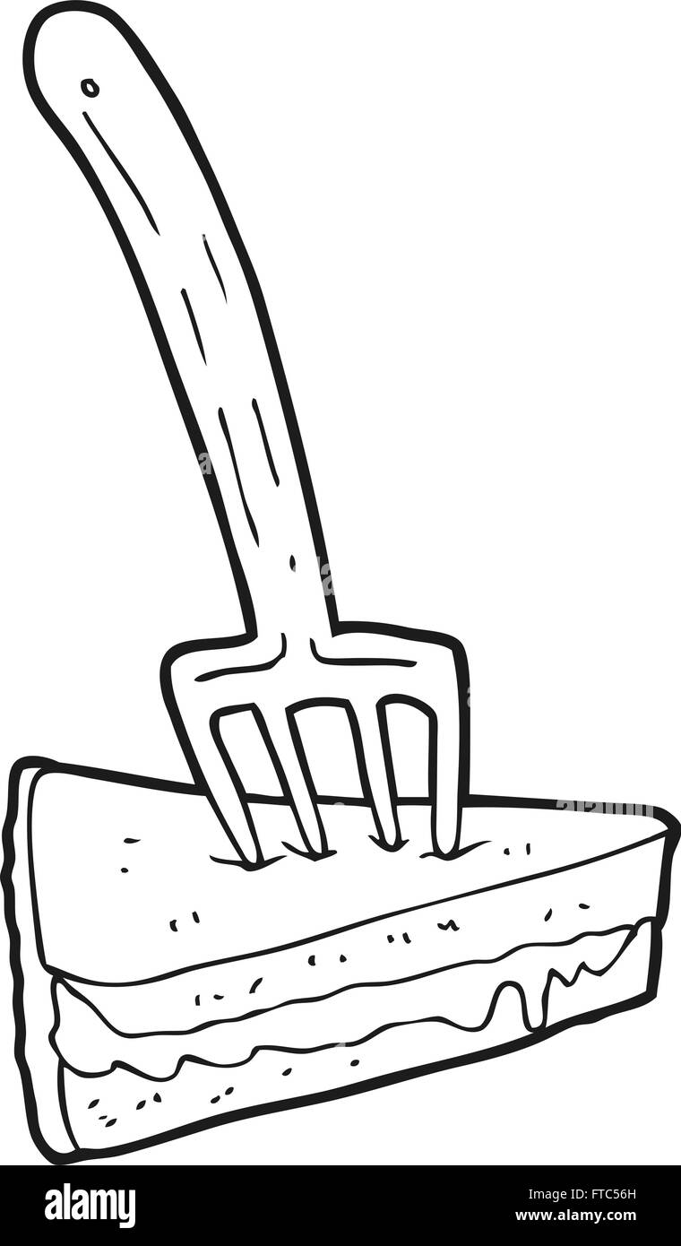 Freehand Drawn Cartoon Cake Fork Stockfotos & Freehand Drawn Cartoon ...
