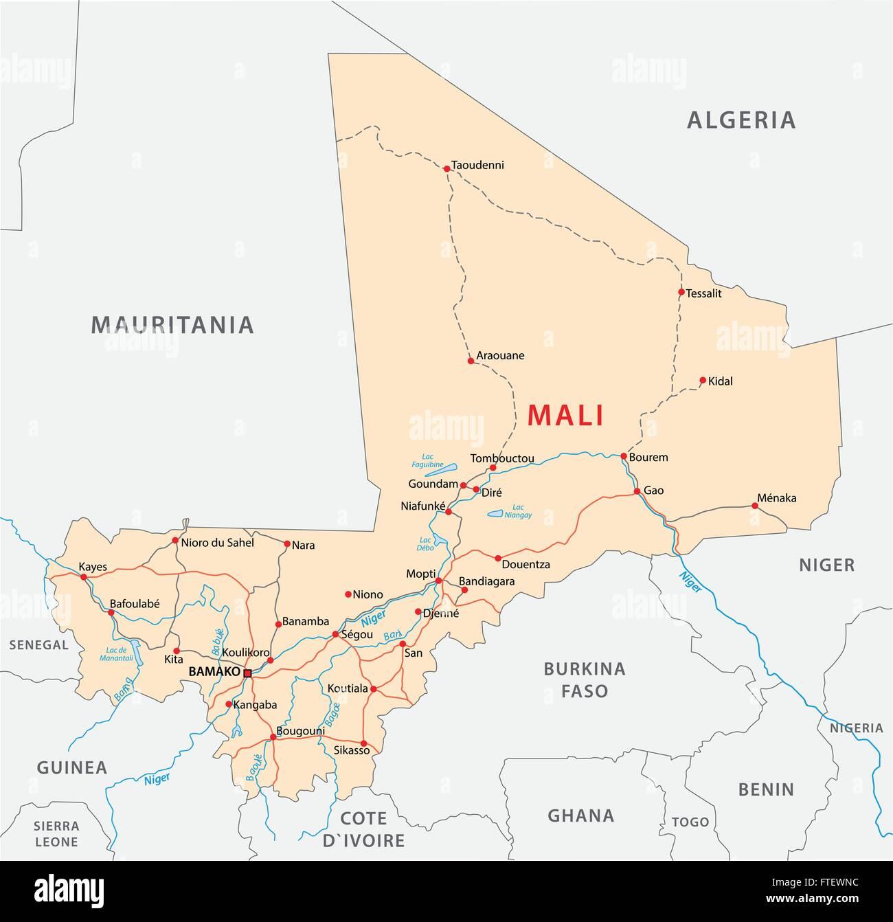 Mali Map Stockfotos & Mali Map Bilder - Alamy
