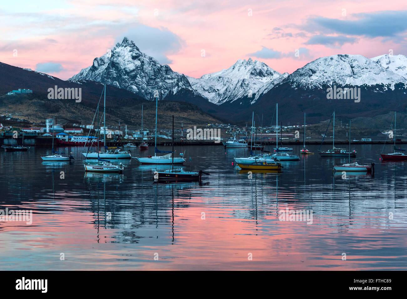 Hafen von Ushuaia, Feuerland, Patagonien, Argentinien Stockbild