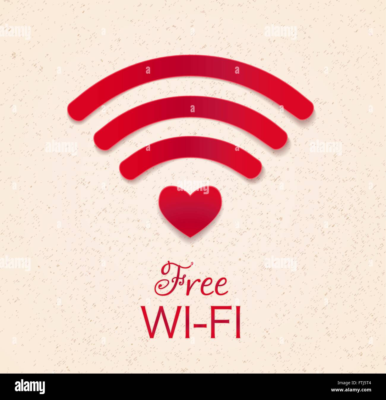Wi Fi Red Icon Heart Shape Stockfotos & Wi Fi Red Icon Heart Shape ...