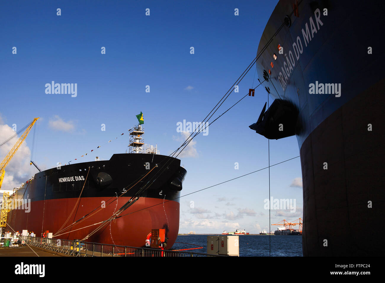 Öl-Tanker - EAS Atlantico Sul Werft Stockbild
