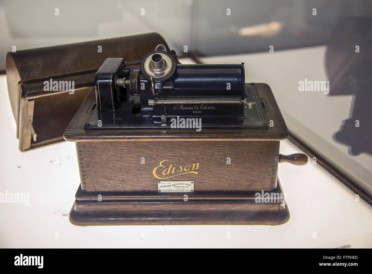 Phonographen Edson Jahrzehnt 1910 gründete die USA Stockbild