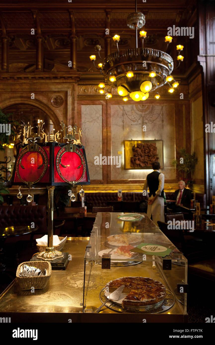 Kunst Nouveau Brüssel: Café Métropole Stockbild