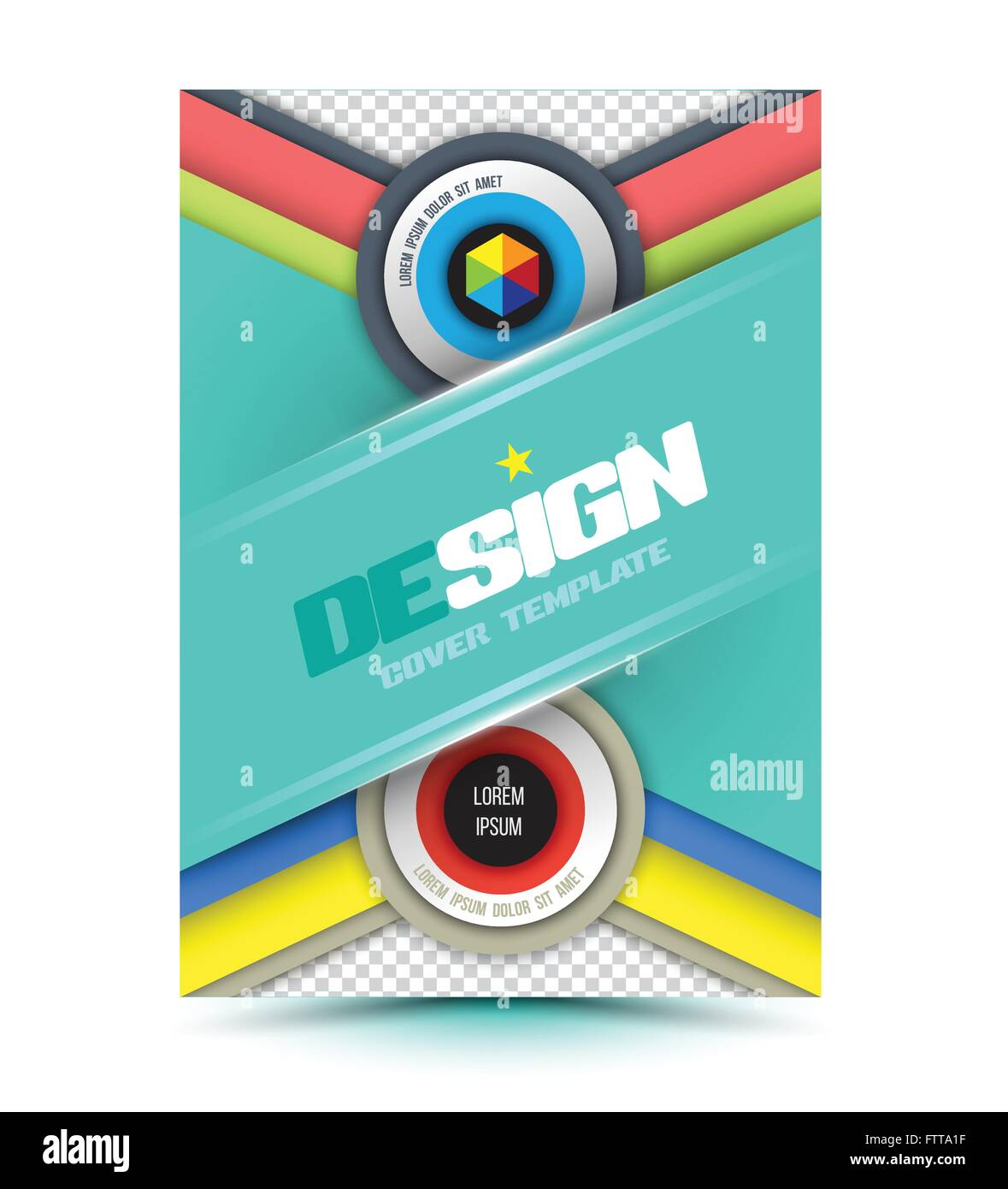 Modernes Design Abstrakt Broschüre. Vektor-Illustration. Buch-Cover ...