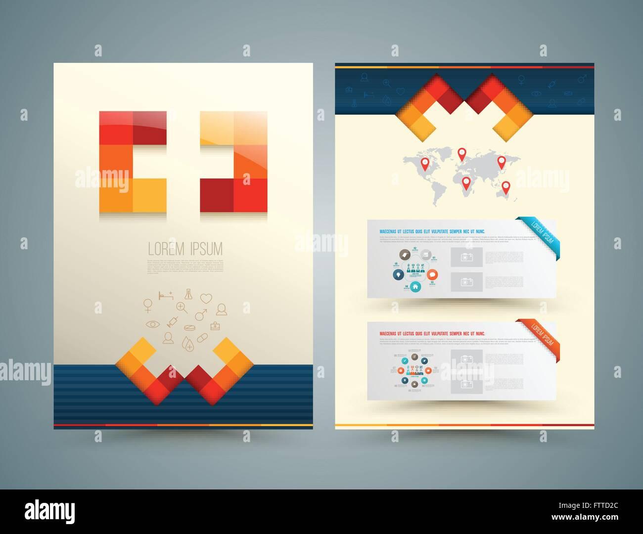 Broschüre oder Flyer Design-medizinische-Stil. Labor-Ausrüstung ...