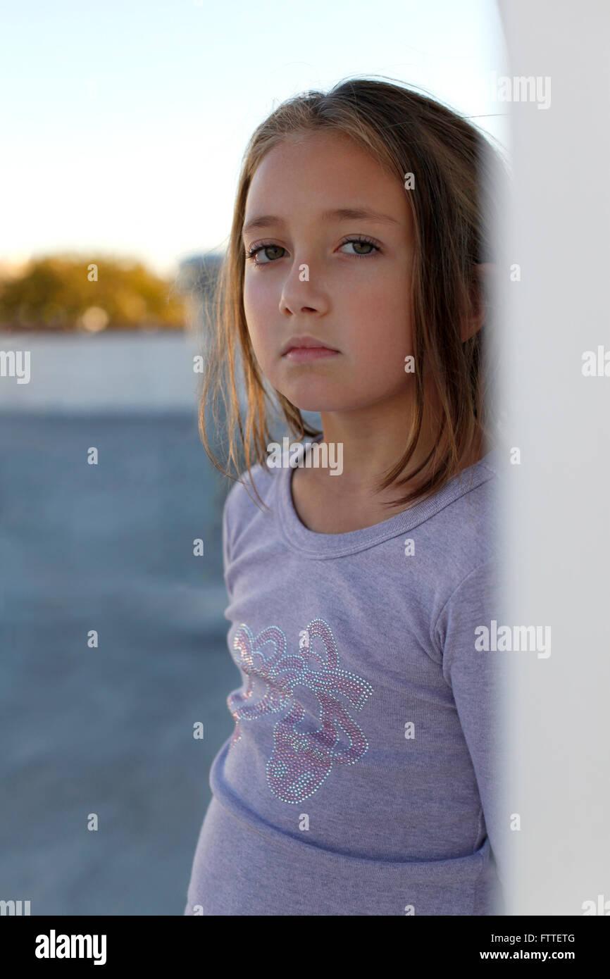 Junges Mädchen Porträt Stockbild