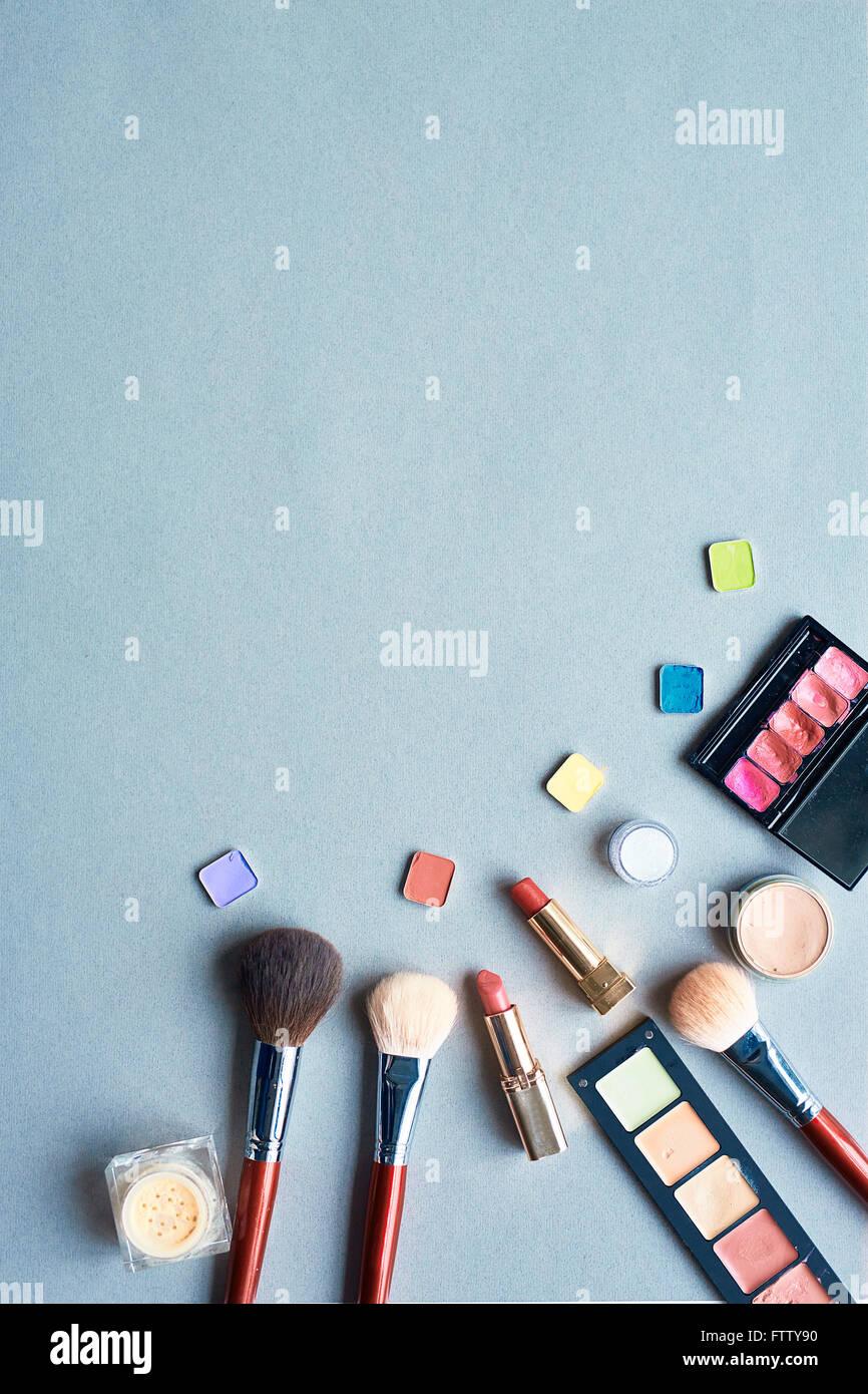 Objekte für maquillage Stockbild