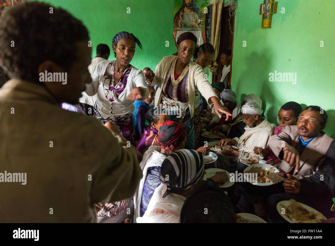 Gibi Dorf Gurage Athiopien 6 Oktober 2013 Menschen Versammeln