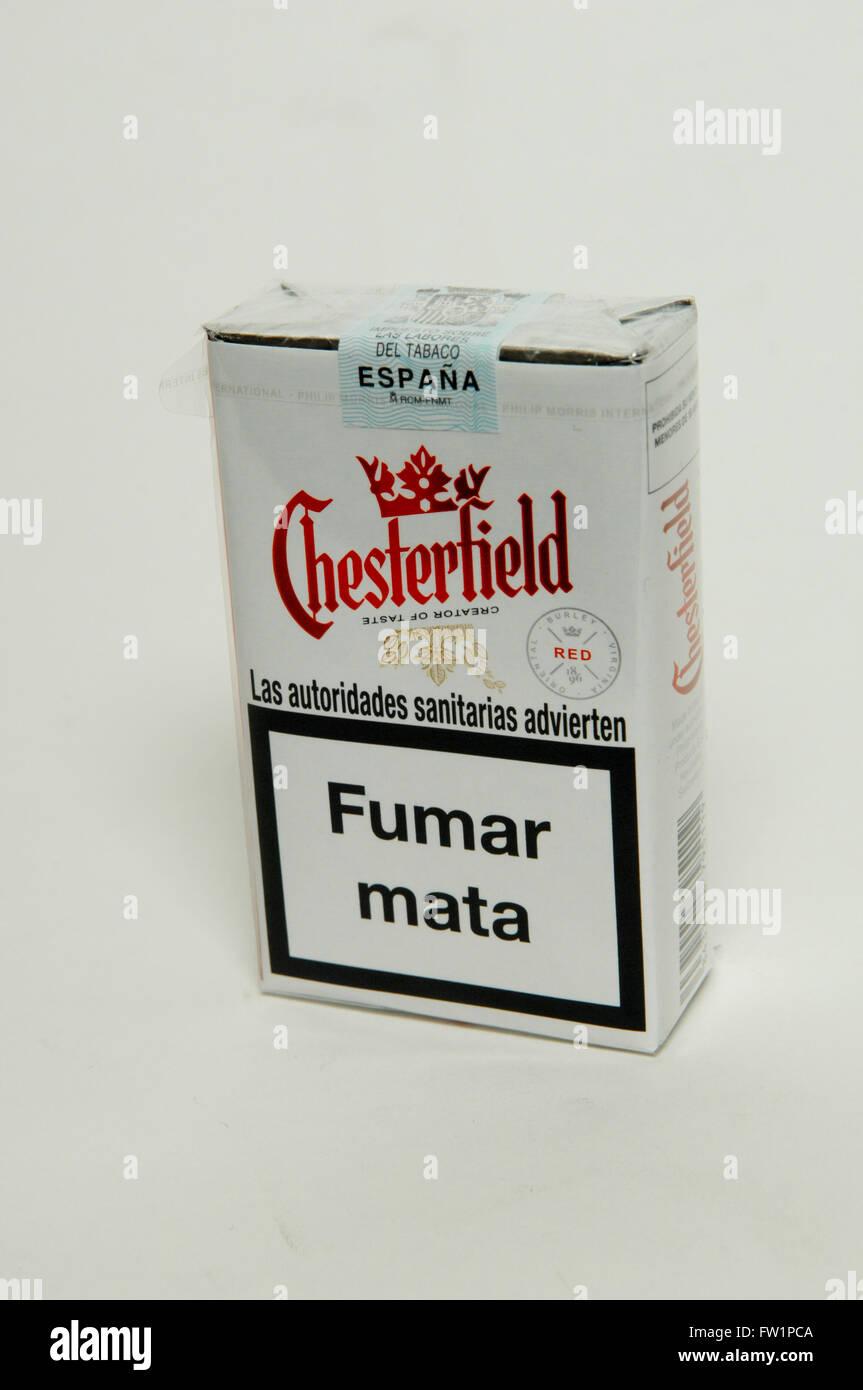 Chesterfield Red Zigaretten Tabak Packet Stockfoto Bild 101457786