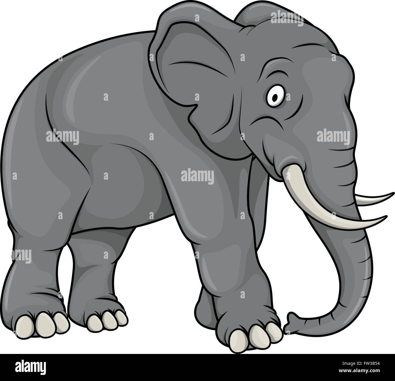 elefanten comic illustration vektor abbildung bild 101492864 alamy. Black Bedroom Furniture Sets. Home Design Ideas