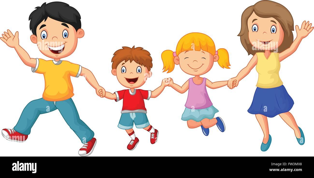 Familie cartoon