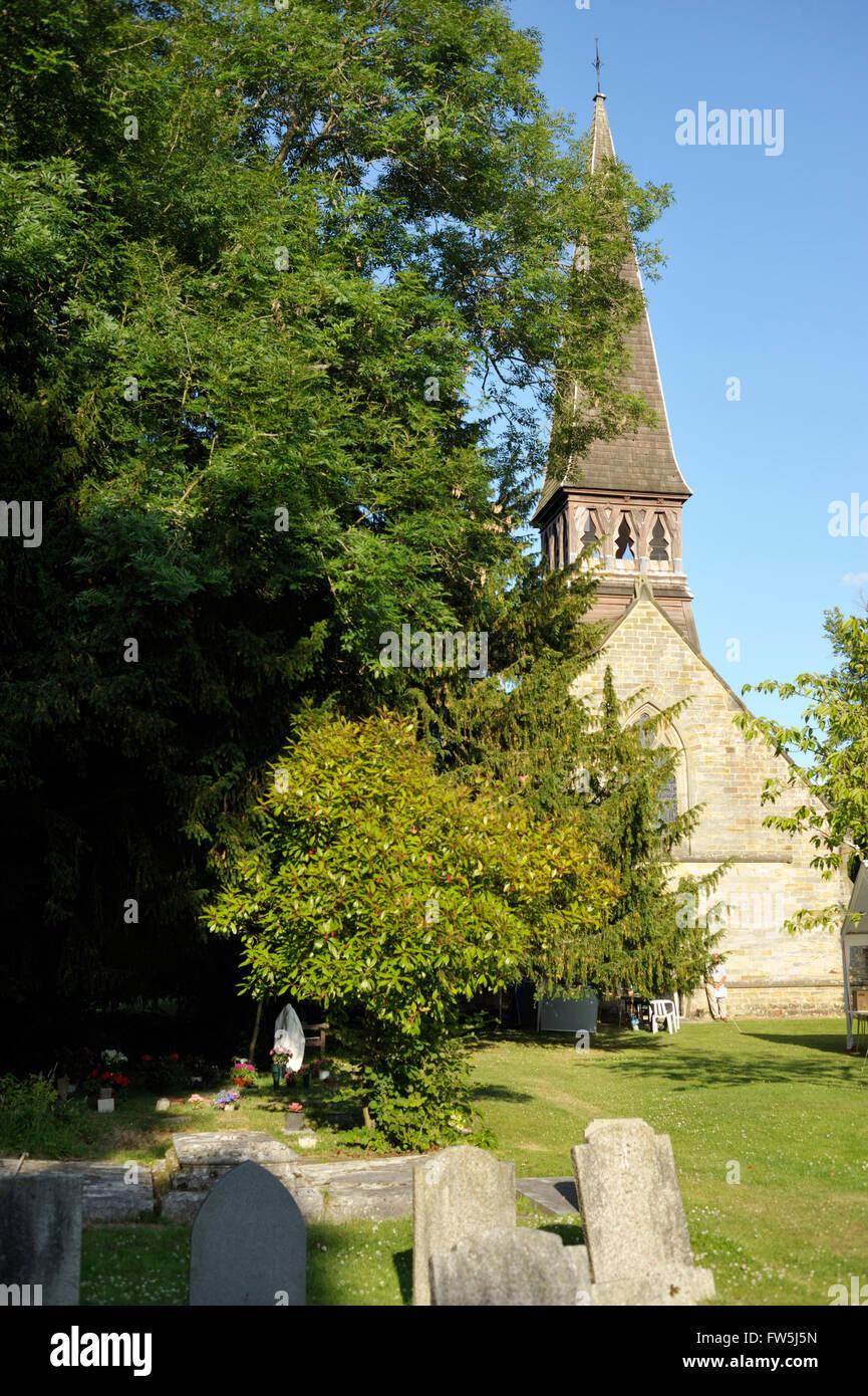 Nuthurst, Kirche von St. Andrew's, East Sussex, in der Nähe von Horsham. Englischen Komponisten Ralph Vaughan Stockbild