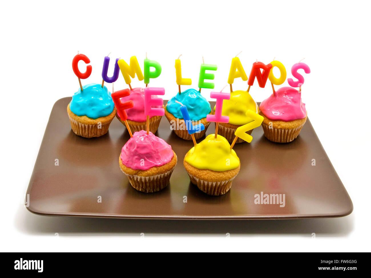 Alles Gute Zum Geburtstag In Spanisch Stockfotos Alles Gute Zum