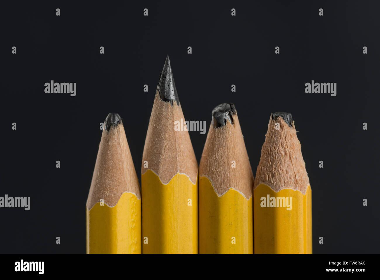 Bleistiftminen härte