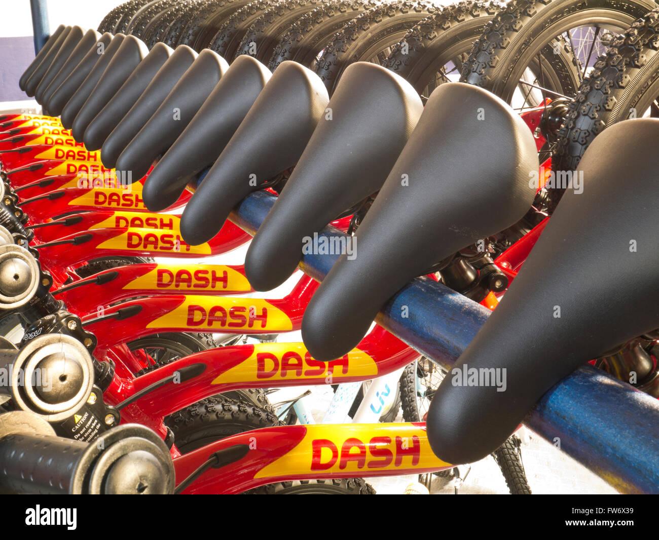 Balance-Fahrräder Stockbild