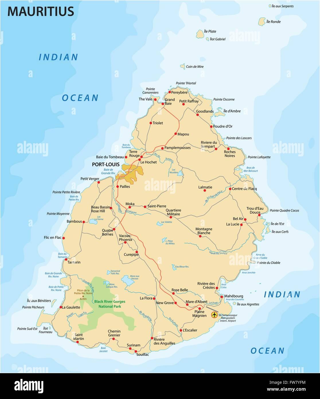 Mauritius Karte Von Mauritius