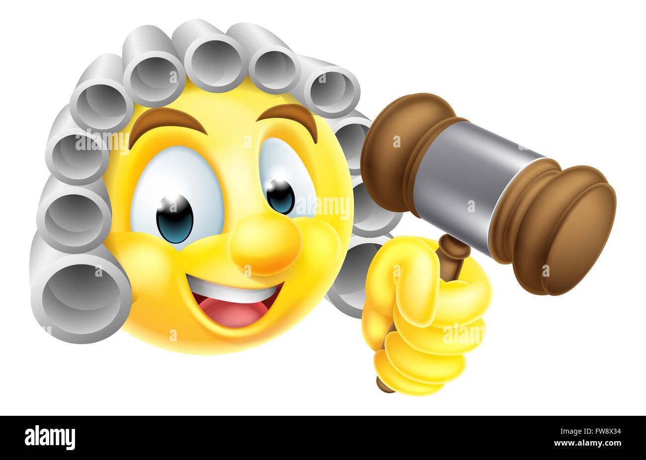 Smiling cartoon emoji emoticon smiley stockfotos