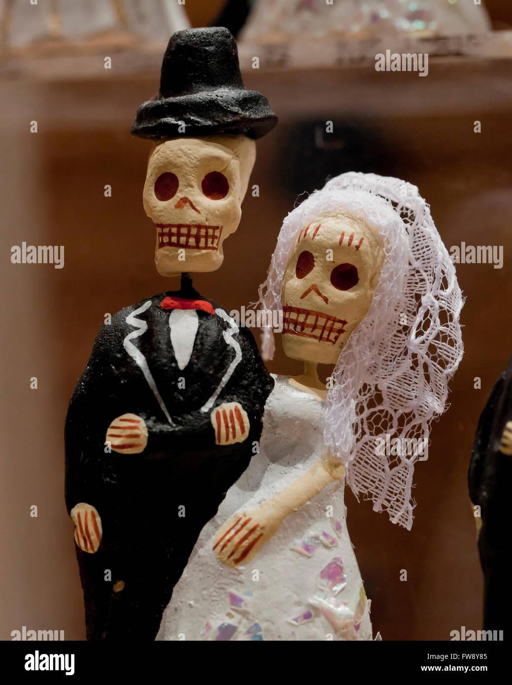 Dia de Los Muertos (Tag der Toten) Zahlen Stockfoto