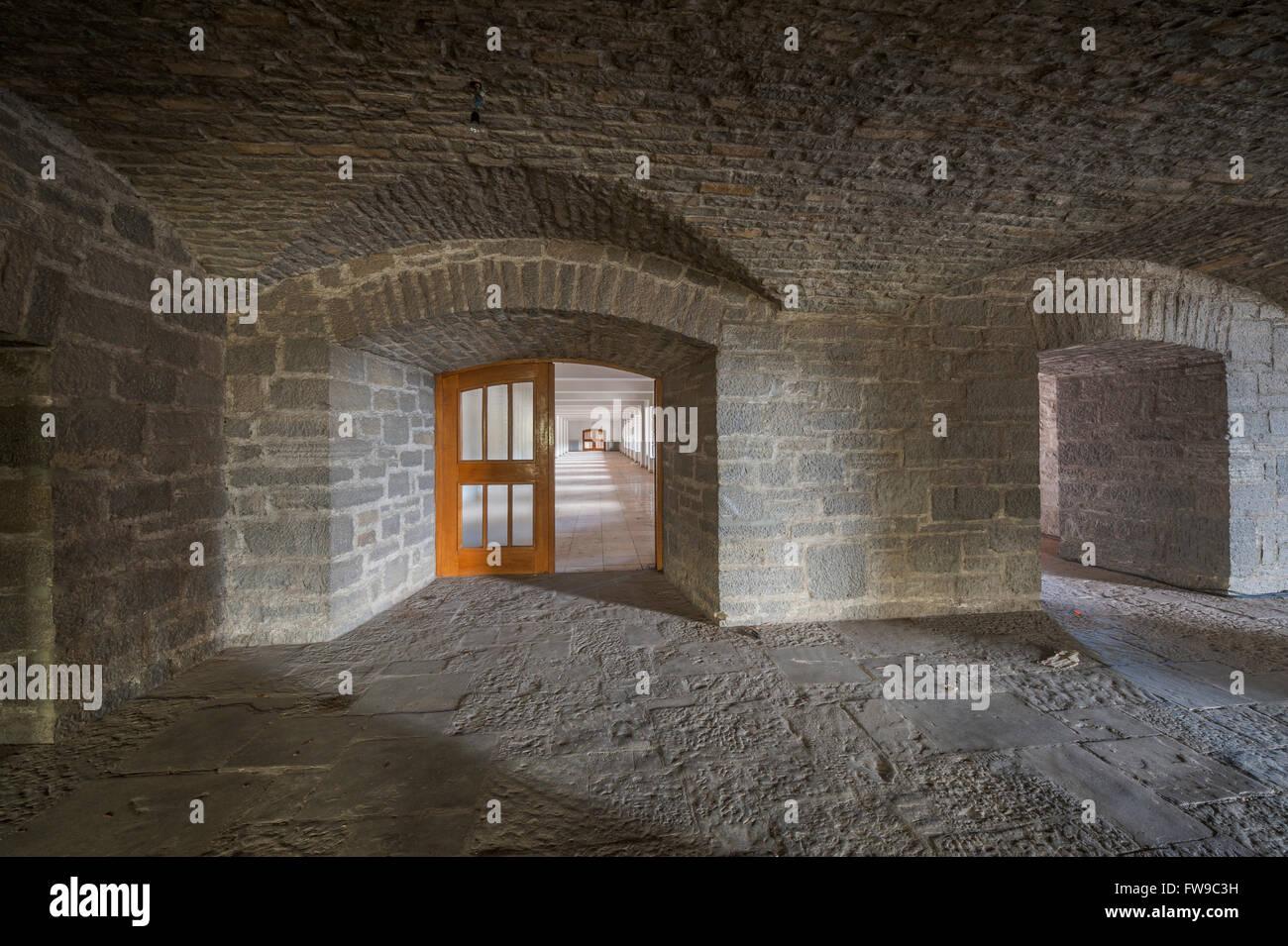 NSDAP-Ordensburg Sonthofen, Korridore, NS-Architektur Heimatschutzstil, drinnen, 1935-45 Adolf Hitler Bildungszentrum Stockbild