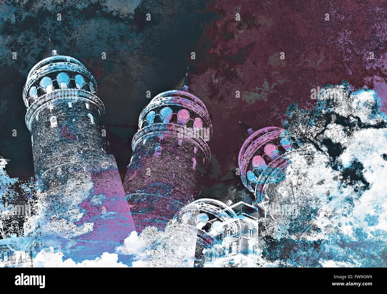 Moderne kreative grafische Textur design Istanbul zeitgenössische Kunst Stockbild
