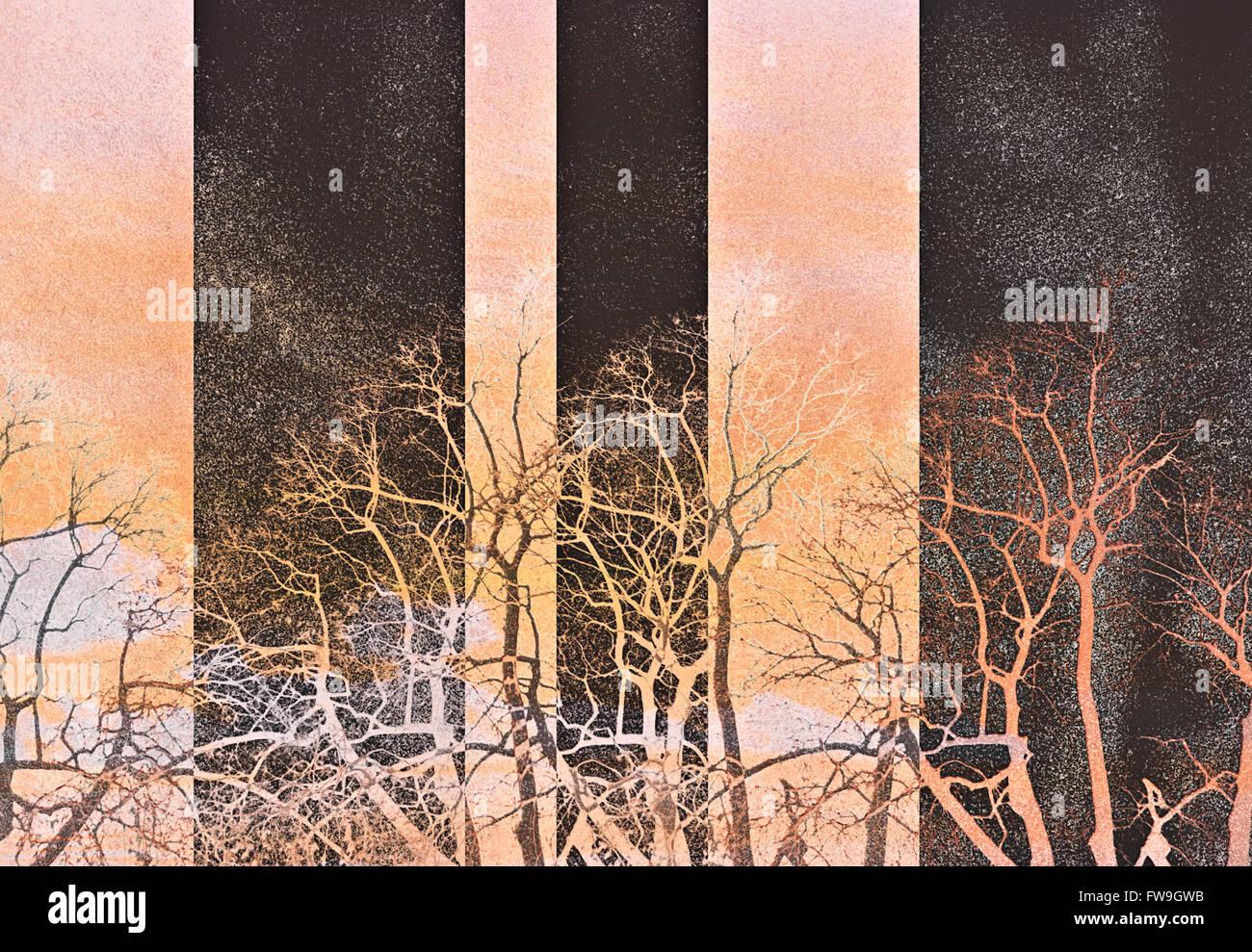 Moderne kreative grafische Textur Design digitale zeitgenössische Kunst Stockbild