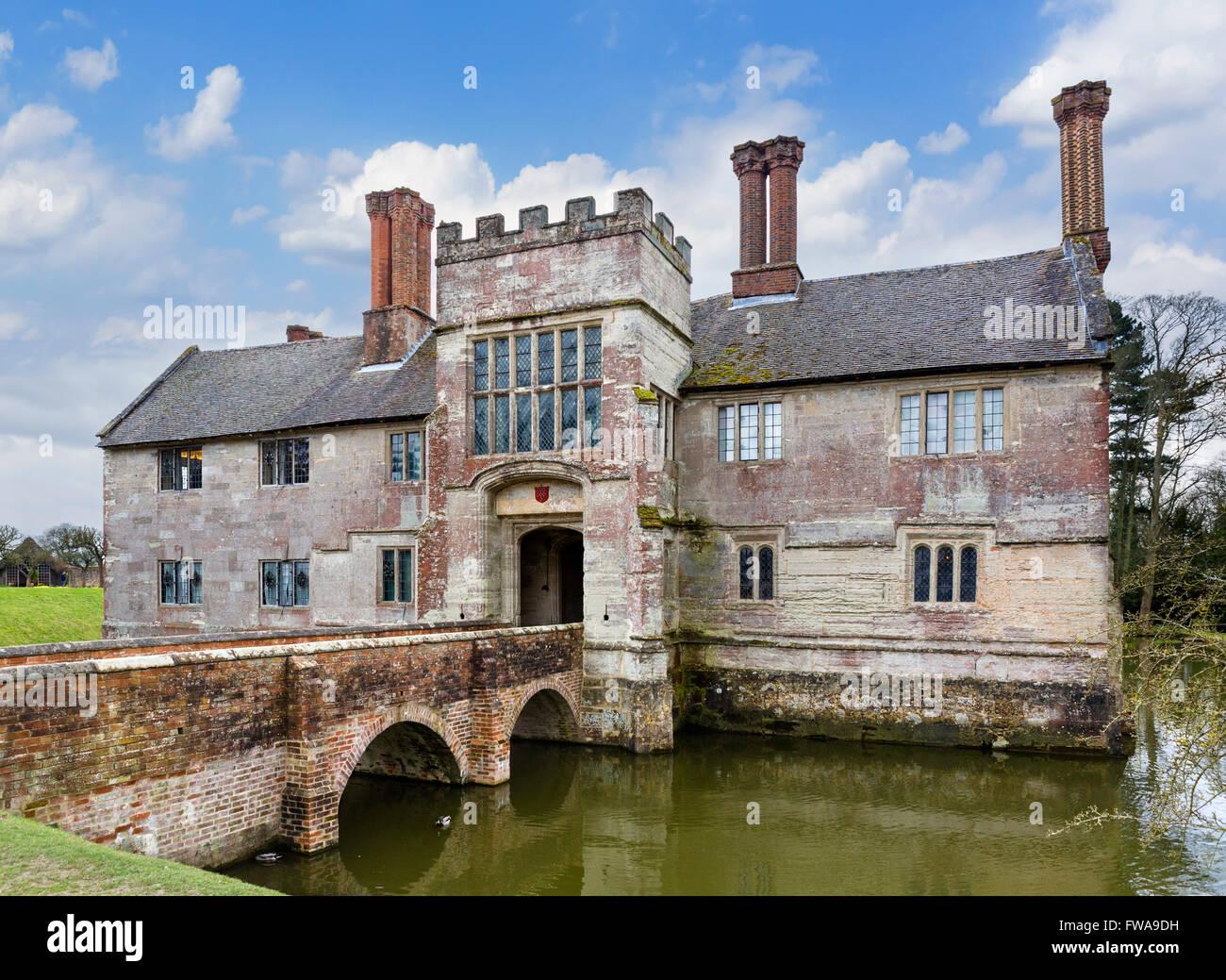 Baddesley Clinton, ein Wasserschloss Herrenhaus in der Nähe von Warwick, Warwickshire, England, UK Stockbild