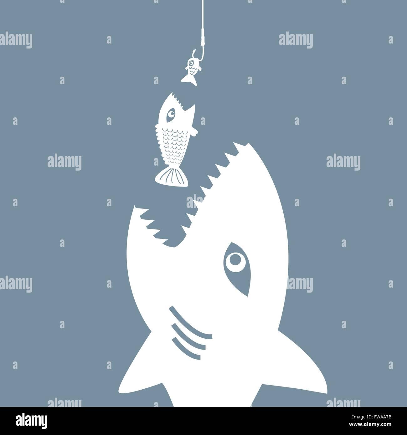 Little fish eat big fish stockfotos little fish eat big for Fressen kois kleine fische