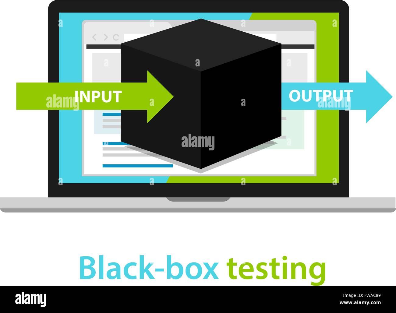 Black Box Tests Eingang Ausgang Prozess Softwareentwicklungsmethodik Diagram