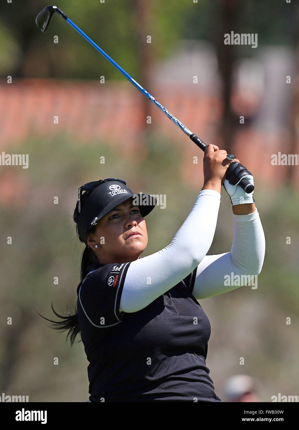 Rancho Mirage, Kalifornien, USA. 2. April 2016. Lizette Salas trifft ein Schuss in der dritten Runde der 2016 ANA Stockfoto