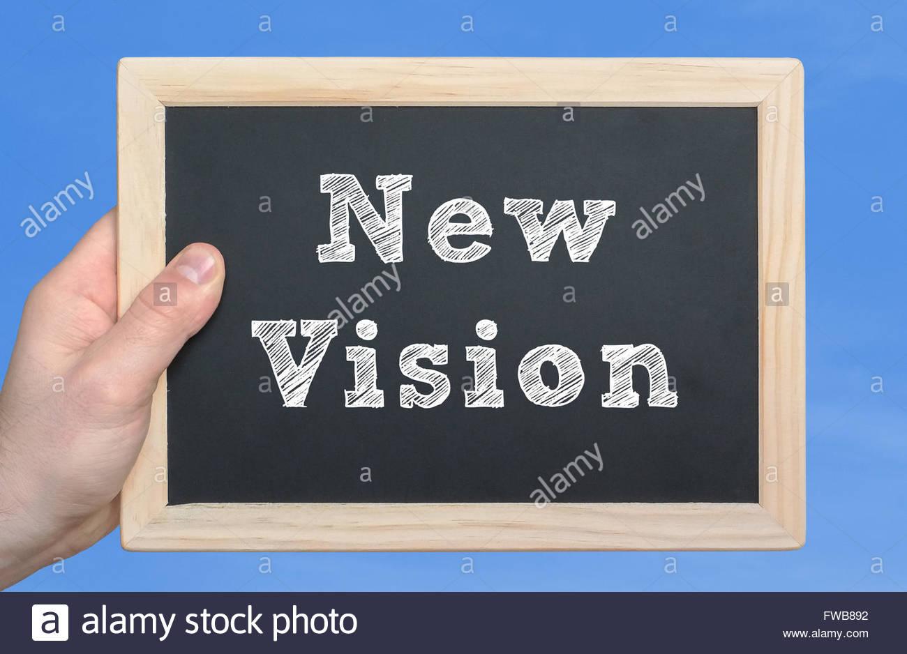 Neue Vision Stockbild
