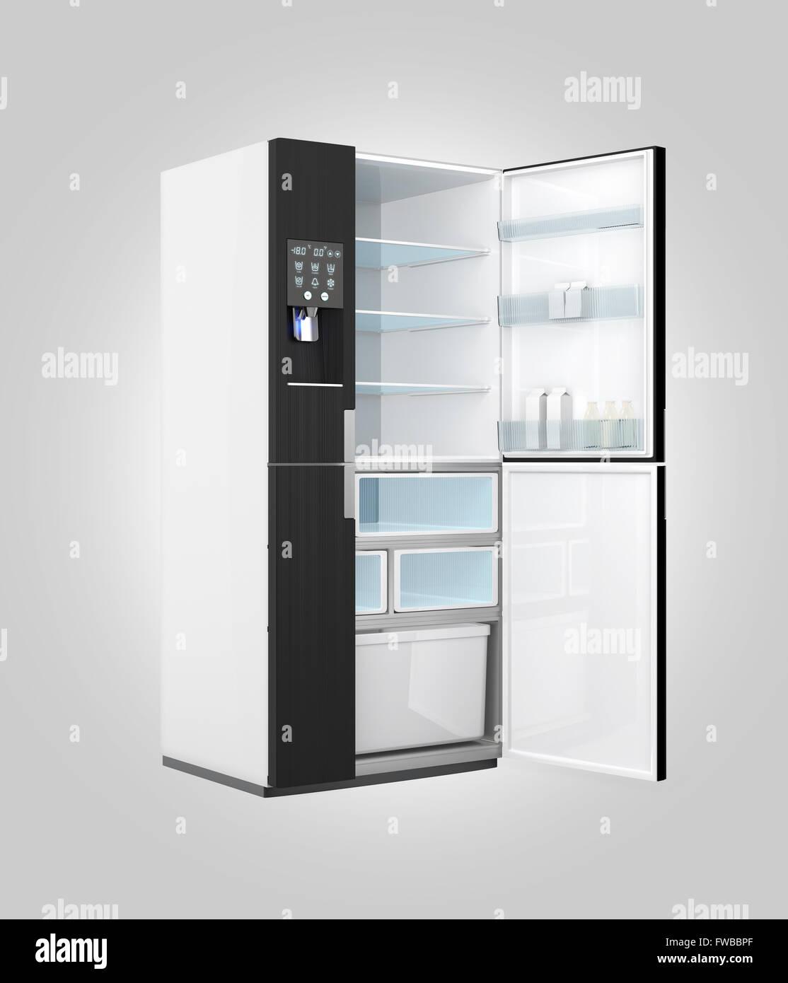 Intelligente Kühlschrank mit Eis Dispenser Funktion. Erfahren Sie ...