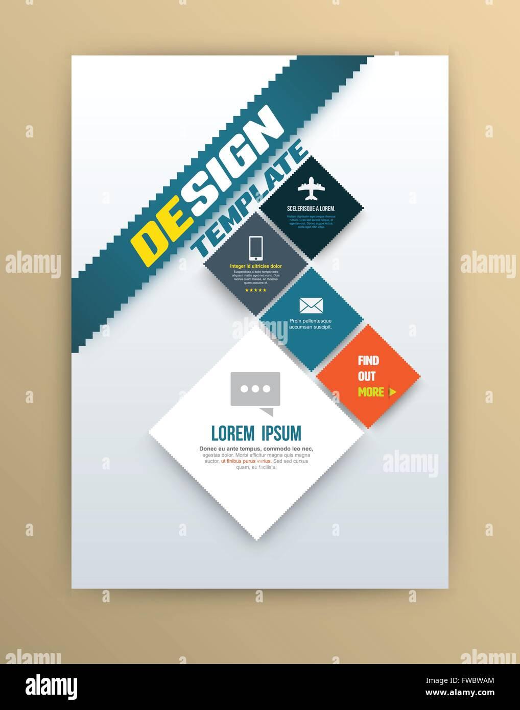Vektor-Broschüre Design-Vorlage, Flyer-Layout, Magazin-Cover ...