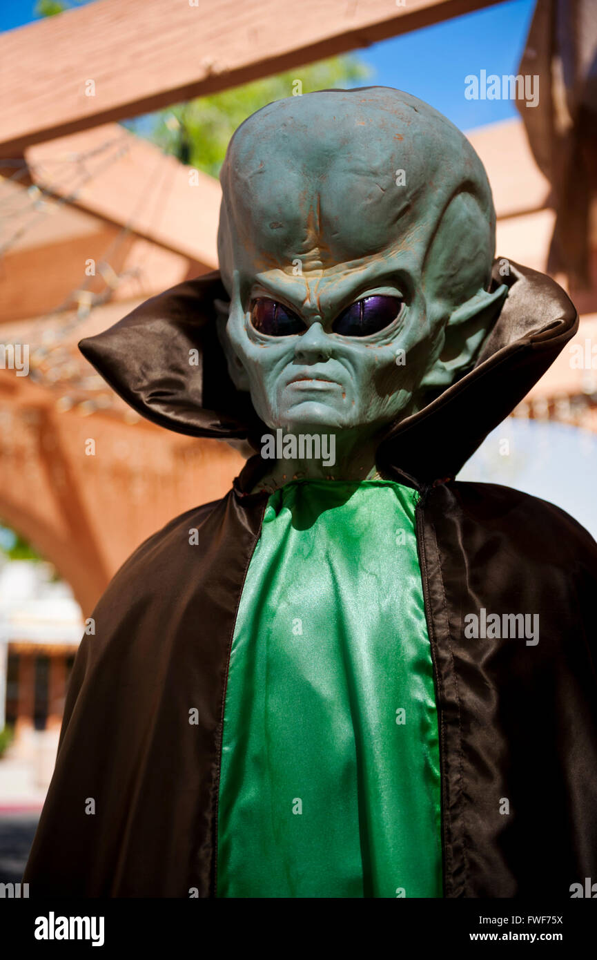 Alien, Martian spaceman Kostüm im Südwesten Usa Stockbild
