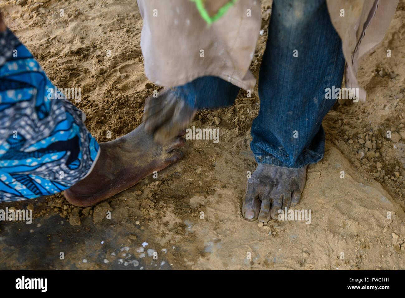 Geistheilung und Masse, demokratische Republik Kongo Stockfoto