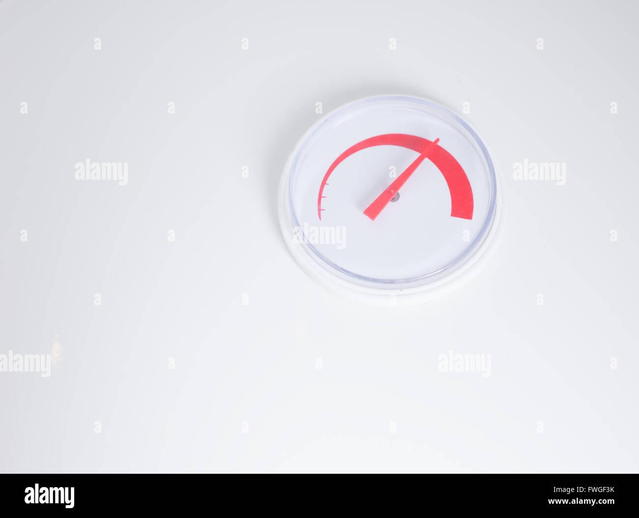 Thermostat Auf Die Inländische Heizung Mit Einem Zifferblatt Für Die