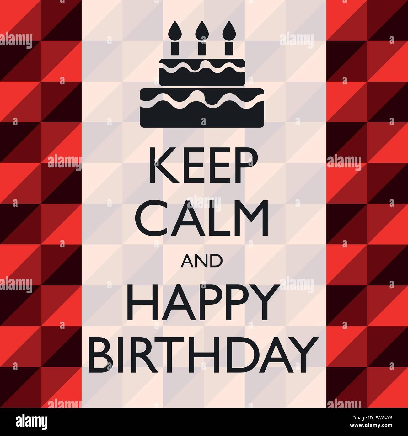 Illustration Grafik Vektor Happy Birthday für verschiedene Zwecke im Bereich Web- und Grafikdesign Stockbild
