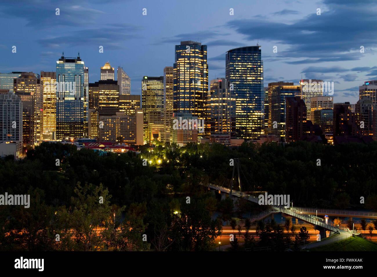 Die Innenstadt von Calgary Stockbild