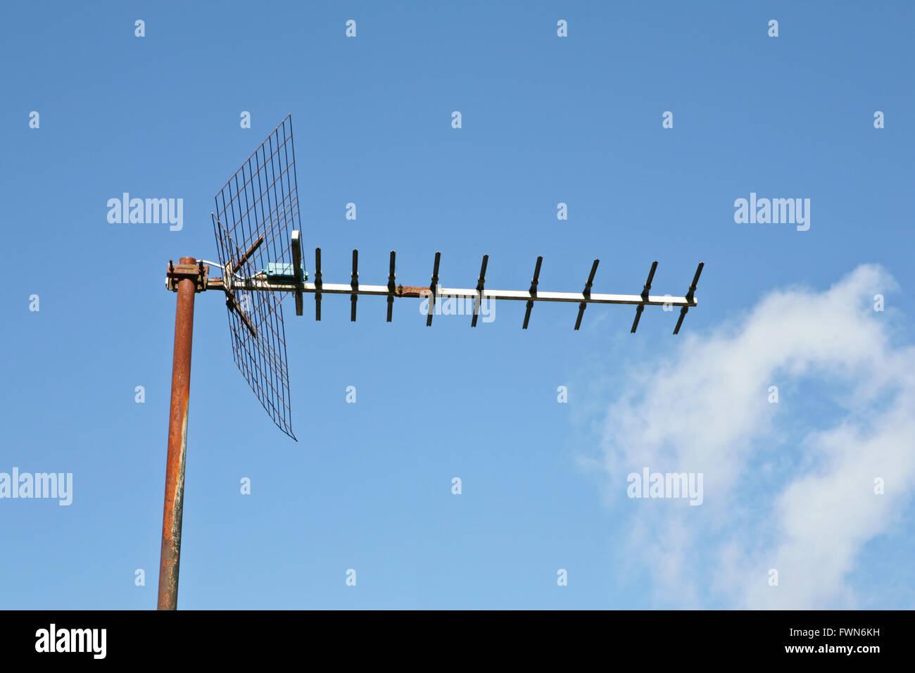 TV-Antenne Stockbild