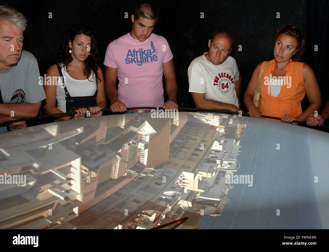 Tavira Turm, obskure Kamera, Cádiz, Region Andalusien, Spanien, Europa Stockfoto