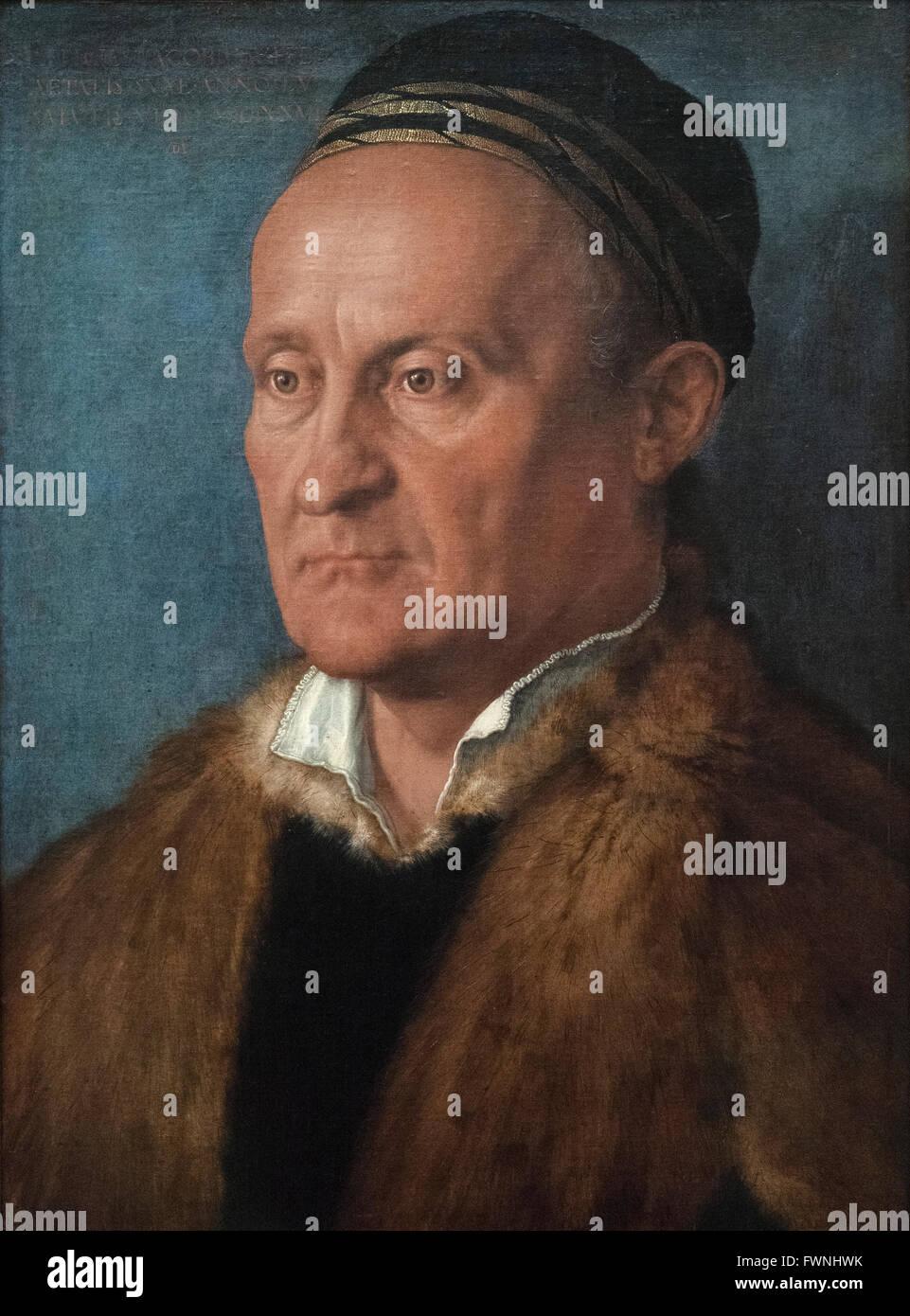 Albrecht Dürer (1471-1528), Jacob Muffel (1471-1526), 1526. Stockbild