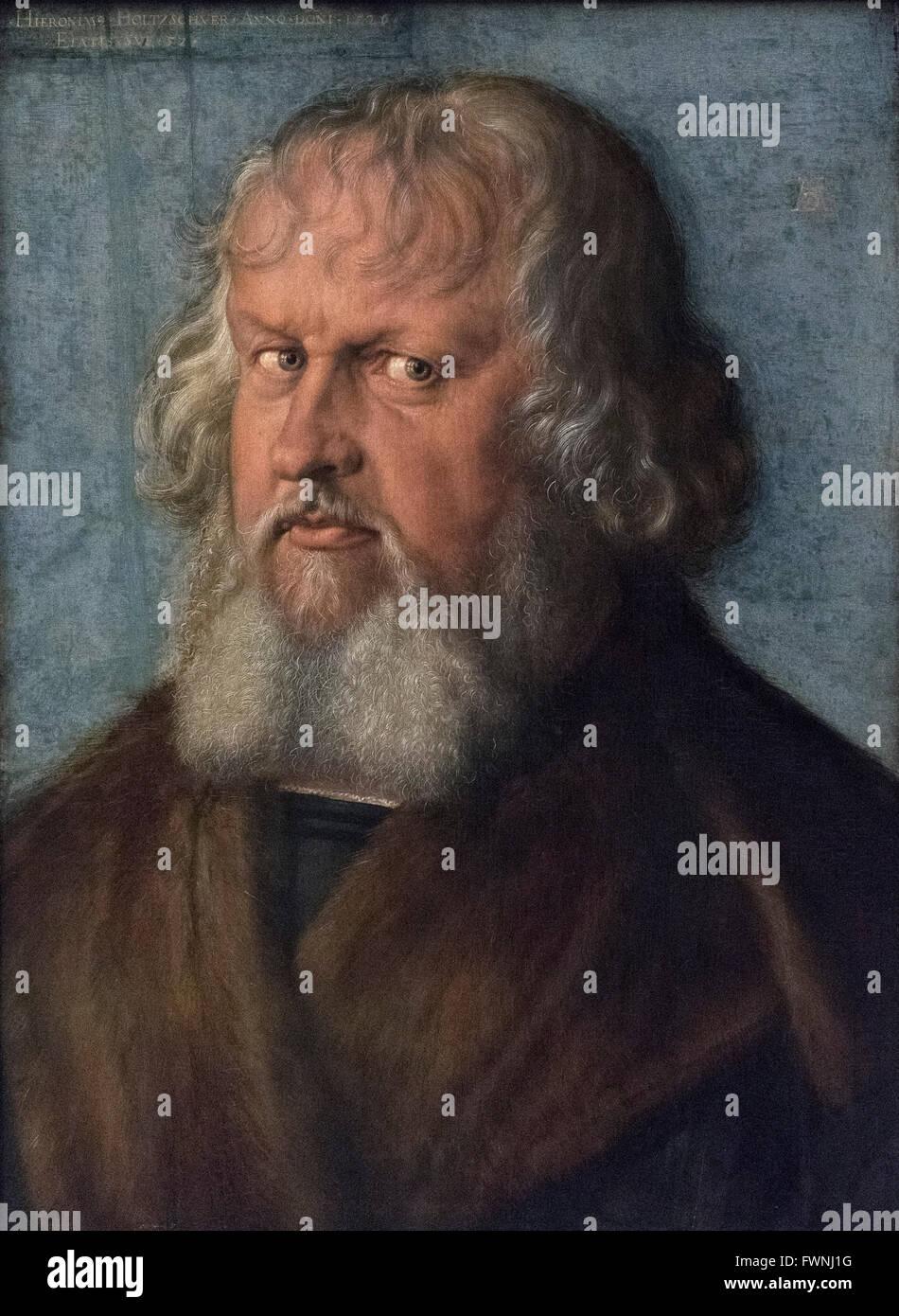 Albrecht Dürer (1471-1528), Porträt des Hieronymus Holzschuher (1469-1529), 1526. Stockbild