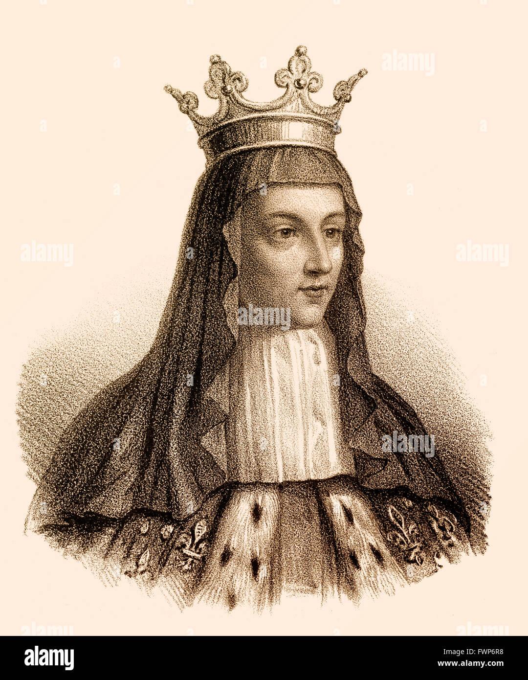 Radegund oder Radegonde, Frau adoptivus I, Chlotachar oder Clotaire, c. 495-561, rief der alte, König der Franken von der Merovi Stockfoto