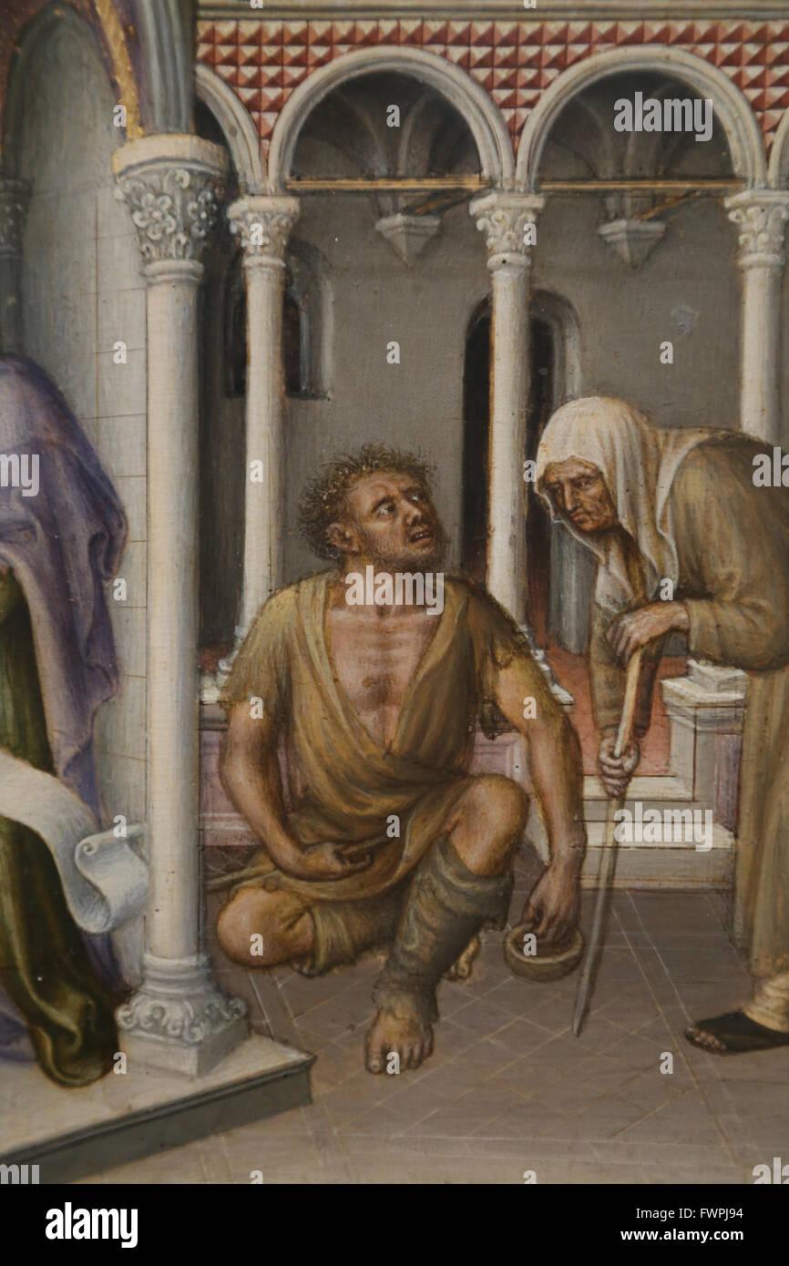 Gentile da Fabrinao (1370-1427). Italienischer Maler. Darstellung Christi im Tempel, 1423. Gothic. Detail. Zwei Stockbild