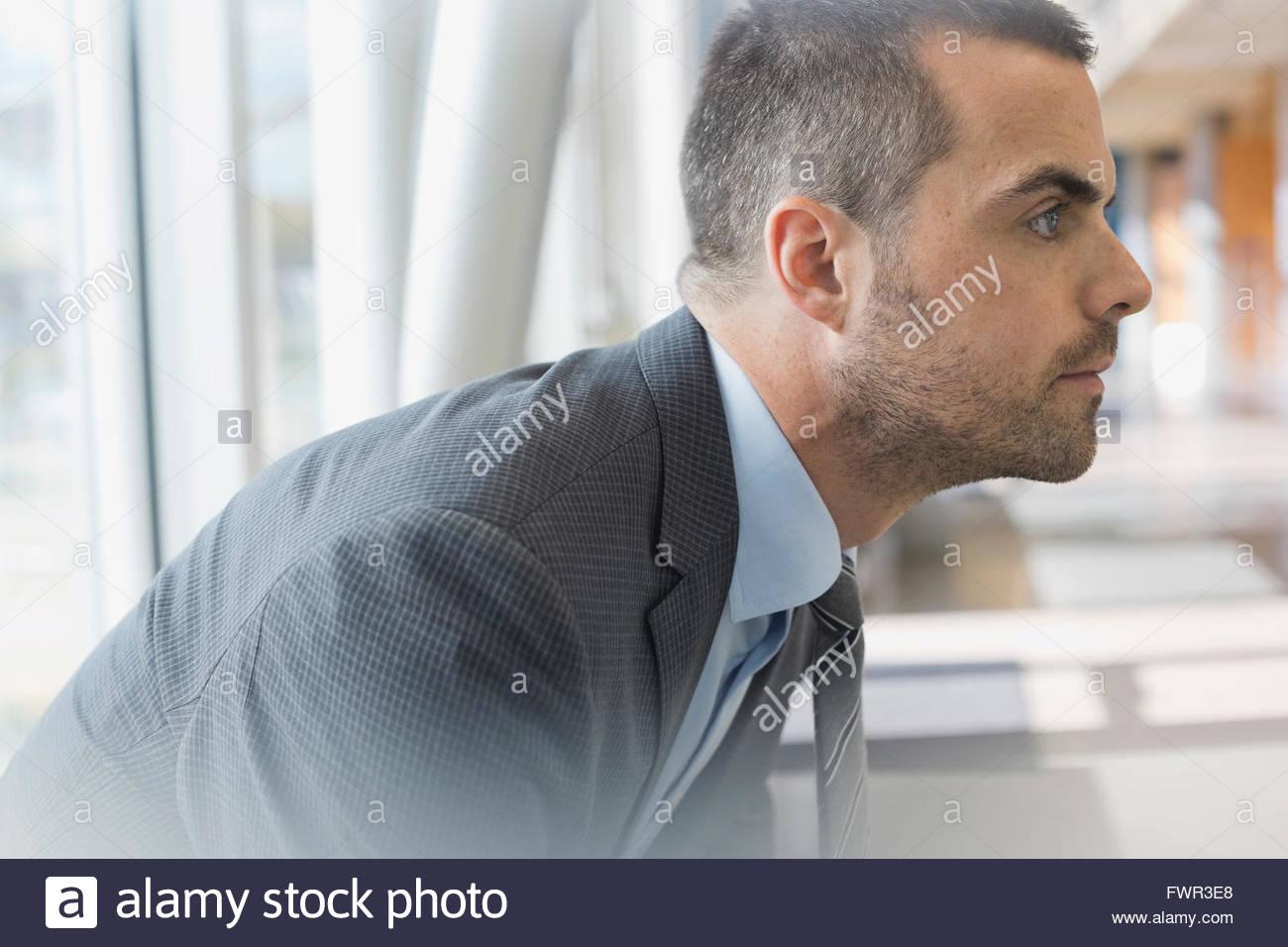 Profil-Bild von zuversichtlich Geschäftsmann Stockbild